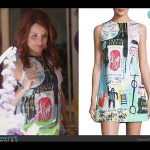 "Alice + Olivia X Basquiat ""Clyde Graffiti Dress"""